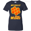 CustomCat Apparel Ladies Custom 100% Cotton T-Shirt / Navy / X-Small Dragon Ball Z Grant Wishes Ladies Tee