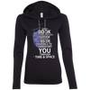 CustomCat Apparel Ladies LS T-Shirt Hoodie / Black/Dark Grey / Small Book Tardis Ladies Tee