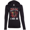 CustomCat Apparel Ladies LS T-Shirt Hoodie / Black/Dark Grey / Small Call Me Zelda I Dare You Ladies Tee