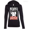 CustomCat Apparel Ladies LS T-Shirt Hoodie / Black/Dark Grey / Small Death Note Justice Ladies Tee