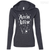 CustomCat Apparel Ladies LS T-Shirt Hoodie / Heather Dark Grey/Dark Grey / Small Accio Wine Tee