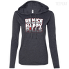 CustomCat Apparel Ladies LS T-Shirt Hoodie / Heather Dark Grey/Dark Grey / Small Be Nice Ladies Tee