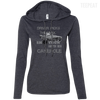 CustomCat Apparel Ladies LS T-Shirt Hoodie / Heather Dark Grey/Dark Grey / Small Cakehole Ladies Tee