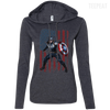 CustomCat Apparel Ladies LS T-Shirt Hoodie / Heather Dark Grey/Dark Grey / Small Captain America Ladies Tee
