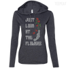 CustomCat Apparel Ladies LS T-Shirt Hoodie / Heather Dark Grey/Dark Grey / Small Carol Flowers Ladies Tee