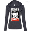 CustomCat Apparel Ladies LS T-Shirt Hoodie / Heather Dark Grey/Dark Grey / Small Death Note Justice Ladies Tee