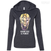 CustomCat Apparel Ladies LS T-Shirt Hoodie / Heather Dark Grey/Dark Grey / Small Dota 2 Invoker Ladies Tee