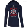 CustomCat Apparel Ladies LS T-Shirt Hoodie / Navy/Dark Grey / Small Akatsuki Organization Ladies Tee