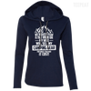 CustomCat Apparel Ladies LS T-Shirt Hoodie / Navy/Dark Grey / Small Biggest Fear Camping Gear Ladies Tee