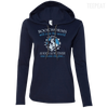 CustomCat Apparel Ladies LS T-Shirt Hoodie / Navy/Dark Grey / Small Bookworms Will Rule The World Ladies Tee