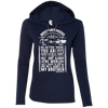 CustomCat Apparel Ladies LS T-Shirt Hoodie / Navy/Dark Grey / Small Brotherhood Ladies Tee
