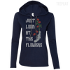 CustomCat Apparel Ladies LS T-Shirt Hoodie / Navy/Dark Grey / Small Carol Flowers Ladies Tee