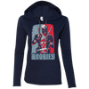 CustomCat Apparel Ladies LS T-Shirt Hoodie / Navy/Dark Grey / Small Deadpool Boobies Ladies Tee