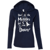CustomCat Apparel Ladies LS T-Shirt Hoodie / Navy/Dark Grey / Small Don't Let The Muggles Get You Down Ladies Tee