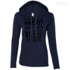 CustomCat Apparel Ladies LS T-Shirt Hoodie / Navy/Dark Grey / Small Dota 2 Buy Wards Ladies Tee