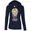 CustomCat Apparel Ladies LS T-Shirt Hoodie / Navy/Dark Grey / Small Dota 2 Invoker Ladies Tee