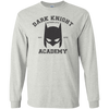 CustomCat Apparel LS Ultra Cotton Tshirt / Ash / Small Dark Knight Academy Tee