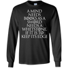 CustomCat Apparel LS Ultra Cotton Tshirt / Black / Small A Mind Needs Books Tee