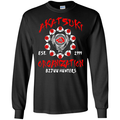 CustomCat Apparel LS Ultra Cotton Tshirt / Black / Small Akatsuki Organization Tee