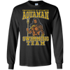 CustomCat Apparel LS Ultra Cotton Tshirt / Black / Small Aquaman Swimming Team Tee