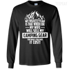 CustomCat Apparel LS Ultra Cotton Tshirt / Black / Small Biggest Fear Camping Gear Tee
