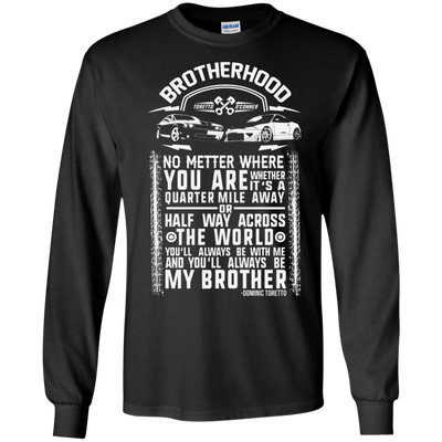 CustomCat Apparel LS Ultra Cotton Tshirt / Black / Small Brotherhood Tee