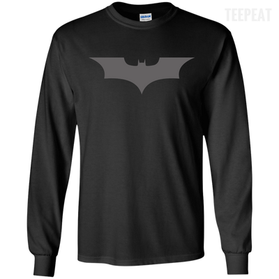 CustomCat Apparel LS Ultra Cotton Tshirt / Black / Small Dark Knight