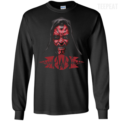 CustomCat Apparel LS Ultra Cotton Tshirt / Black / Small Darth Maul Pulse Tee