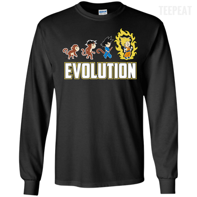 CustomCat Apparel LS Ultra Cotton Tshirt / Black / Small DBZ - Saiyan Evolution Tee