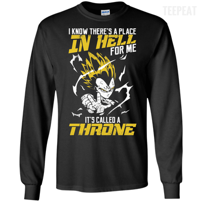CustomCat Apparel LS Ultra Cotton Tshirt / Black / Small DBZ - Vegeta's Throne Tee