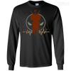 CustomCat Apparel LS Ultra Cotton Tshirt / Black / Small Deadpool Pulse Dark Tee