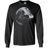 CustomCat Apparel LS Ultra Cotton Tshirt / Black / Small Death Star Tee