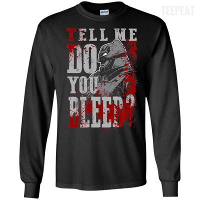 CustomCat Apparel LS Ultra Cotton Tshirt / Black / Small Do You Bleed Tee