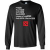 CustomCat Apparel LS Ultra Cotton Tshirt / Black / Small Dota 2 END Tee
