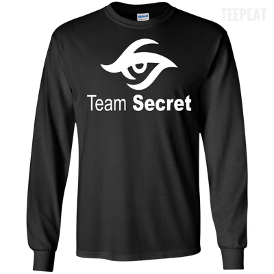 CustomCat Apparel LS Ultra Cotton Tshirt / Black / Small Dota 2 Team Secret Tee