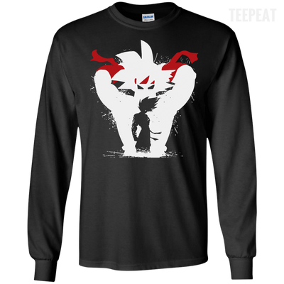 CustomCat Apparel LS Ultra Cotton Tshirt / Black / Small Dragon Ball Z Bardock Tee