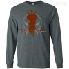 CustomCat Apparel LS Ultra Cotton Tshirt / Dark Heather / Small Deadpool Pulse Dark Tee