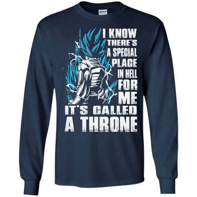 CustomCat Apparel LS Ultra Cotton Tshirt / Navy / Small A Throne Tee
