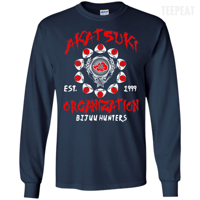 CustomCat Apparel LS Ultra Cotton Tshirt / Navy / Small Akatsuki Organization Tee