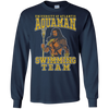 CustomCat Apparel LS Ultra Cotton Tshirt / Navy / Small Aquaman Swimming Team Tee