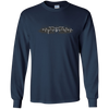 CustomCat Apparel LS Ultra Cotton Tshirt / Navy / Small Bat Pulse Tee