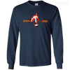 CustomCat Apparel LS Ultra Cotton Tshirt / Navy / Small Captain Pulse Dark Tee