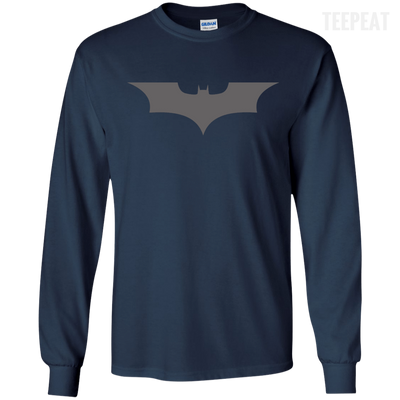 CustomCat Apparel LS Ultra Cotton Tshirt / Navy / Small Dark Knight