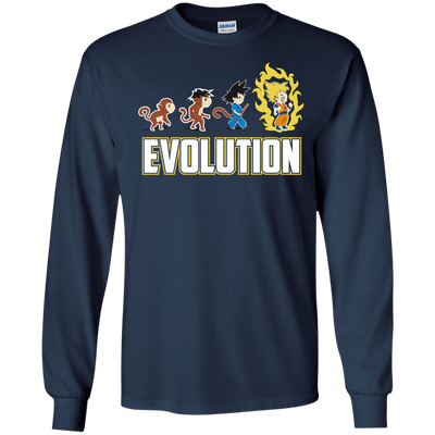 CustomCat Apparel LS Ultra Cotton Tshirt / Navy / Small DBZ - Saiyan Evolution Tee
