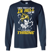 CustomCat Apparel LS Ultra Cotton Tshirt / Navy / Small DBZ - Vegeta's Throne Tee