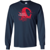 CustomCat Apparel LS Ultra Cotton Tshirt / Navy / Small Death is Coming Tee