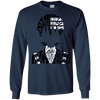 CustomCat Apparel LS Ultra Cotton Tshirt / Navy / Small Death the Kid Tee