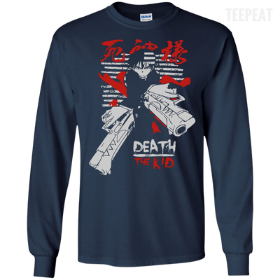 CustomCat Apparel LS Ultra Cotton Tshirt / Navy / Small Death the Kid Tee V2