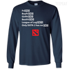 CustomCat Apparel LS Ultra Cotton Tshirt / Navy / Small Dota 2 END Tee