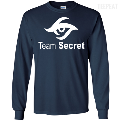 CustomCat Apparel LS Ultra Cotton Tshirt / Navy / Small Dota 2 Team Secret Tee